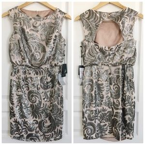 Adrianna Papell Sequinned Dress NWT